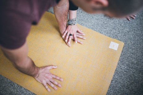 Yoga Mat Hands 3